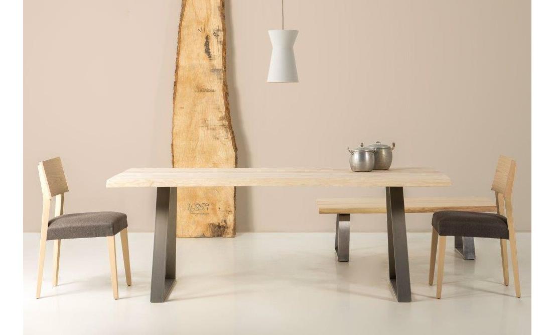 Mesa de comedor madera maciza fresno Juli de lujo en ...