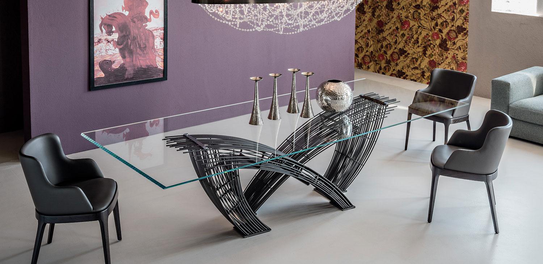 Mesa de comedor moderna hystrix cattelan en for Mesas de comedor cuadradas modernas