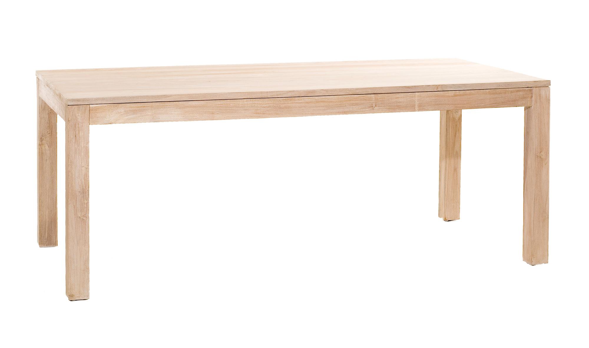 Mesa de comedor rectangular colonial madera lavada no for Mesa comedor rectangular madera