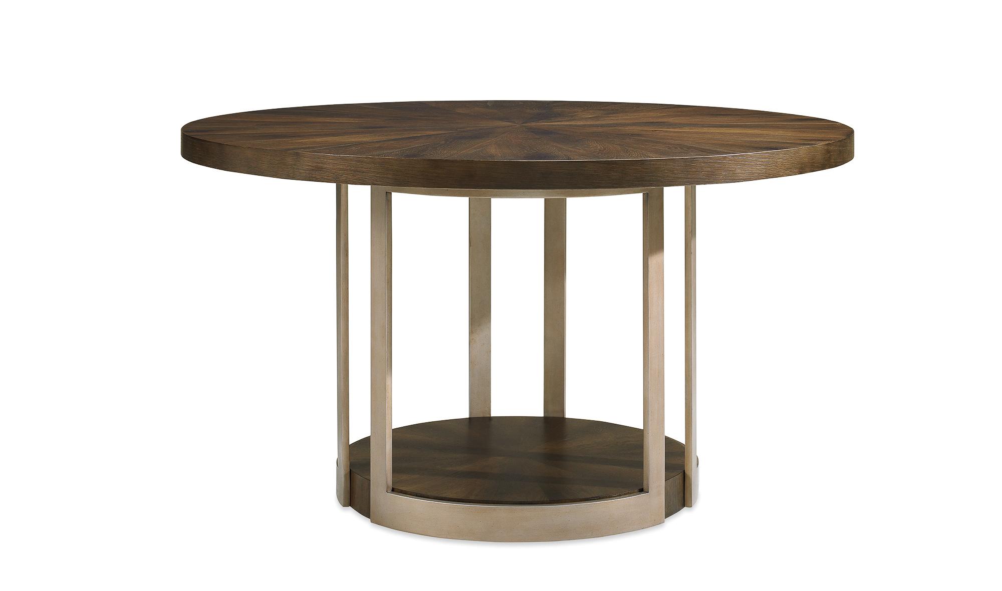 Mesa de comedor redonda Gather Artisan en La tienda de cabeceros de