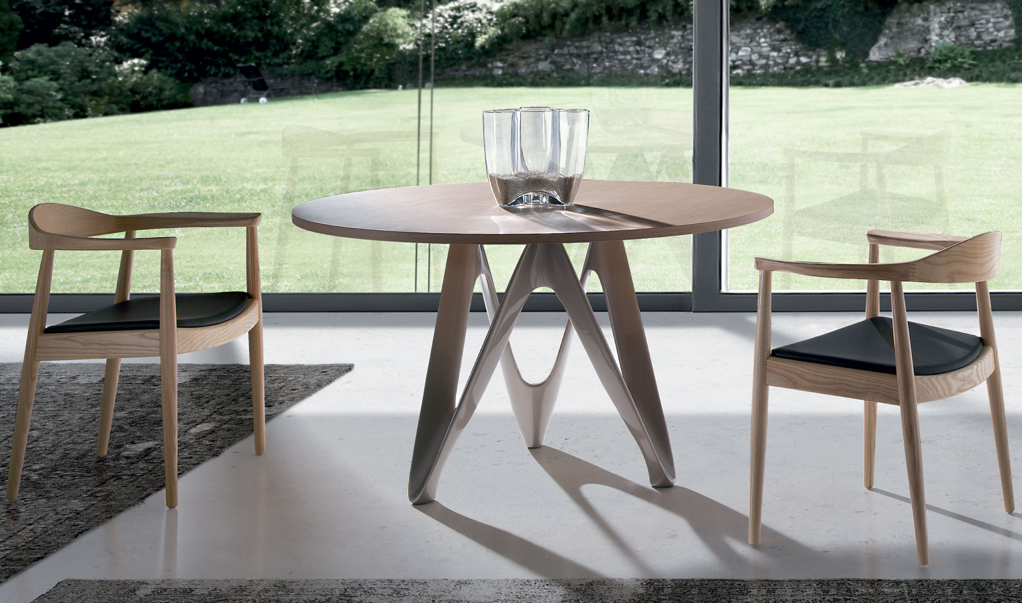 mesa de comedor redonda moderna alagi en cosas de