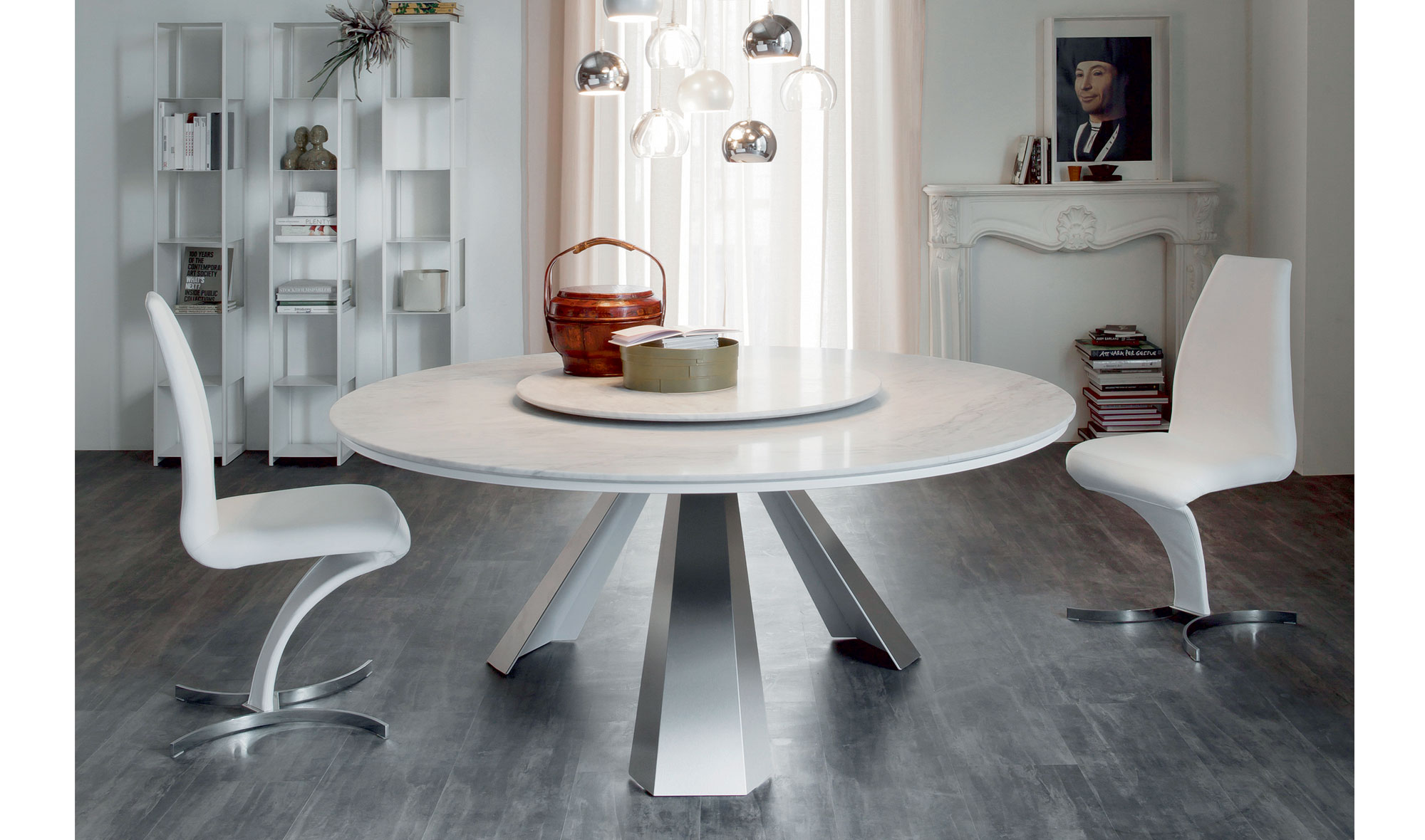 Mesa de comedor redonda moderna eliot cattelan en for Mesas redondas para comedor