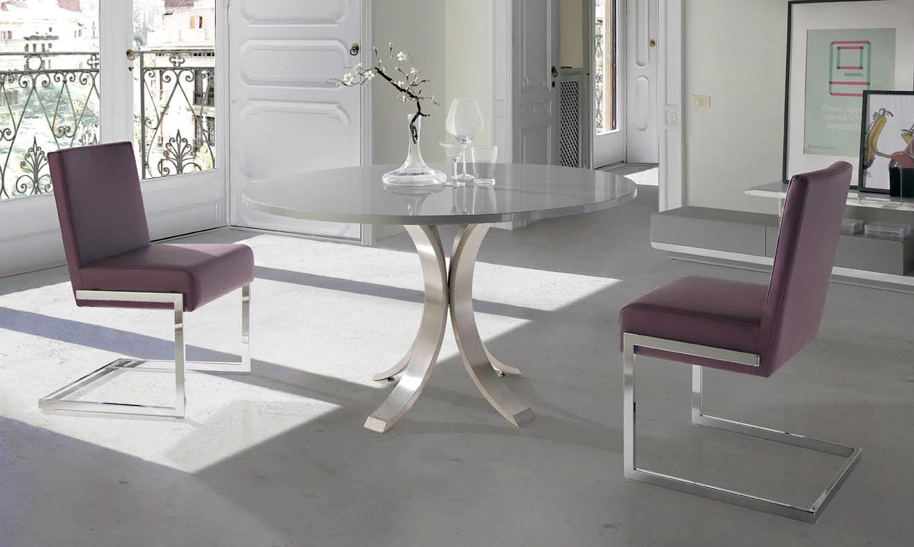 Mesa de comedor redonda moderna maddox en - Comedores mesa redonda ...