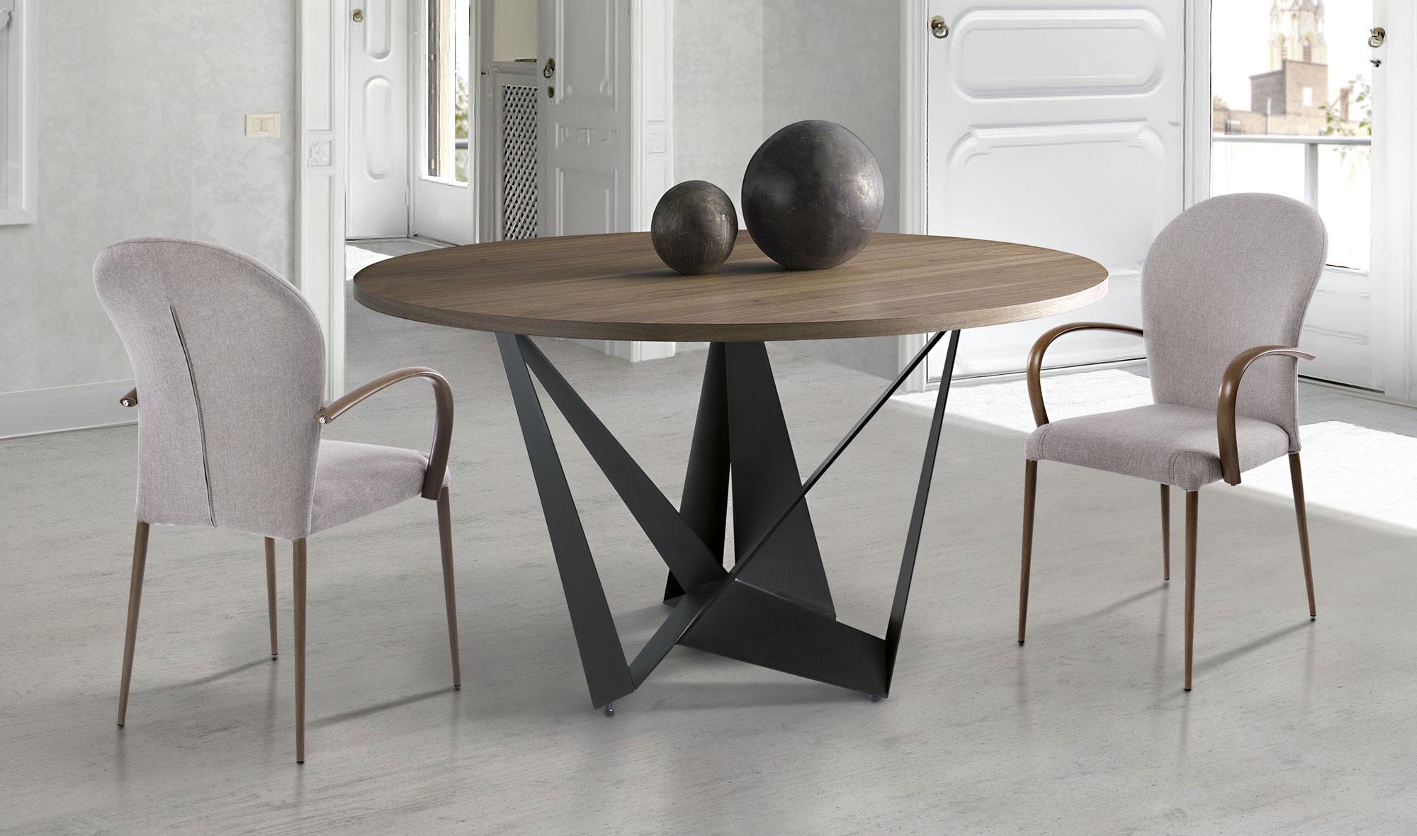 Mesa de comedor redonda moderna sambre no disponible en - Mesa comedor redonda extensible ...