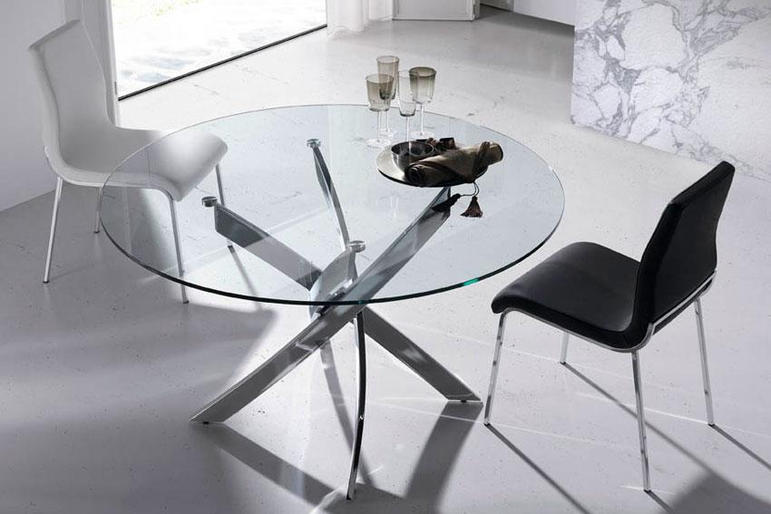 Mesa de comedor redonda Moderna Xenon en Portobellostreet.es
