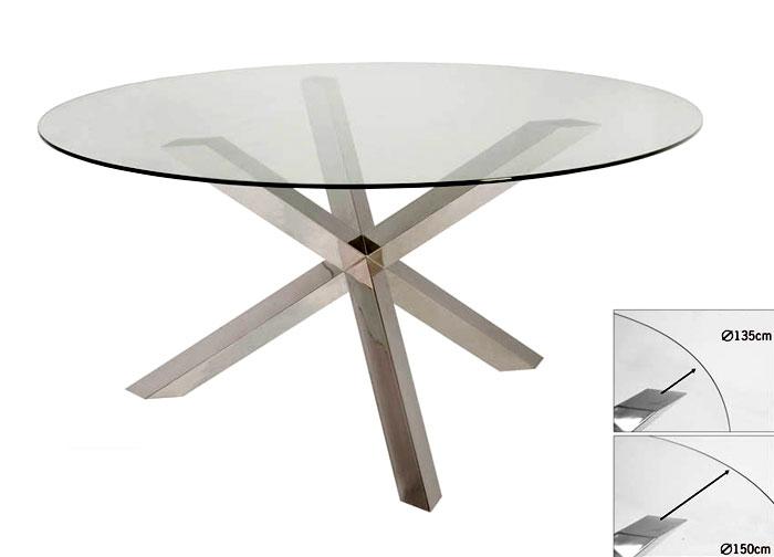 Mesa de comedor redonda moderna merrian no disponible en for Mesas redondas para comedor modernas