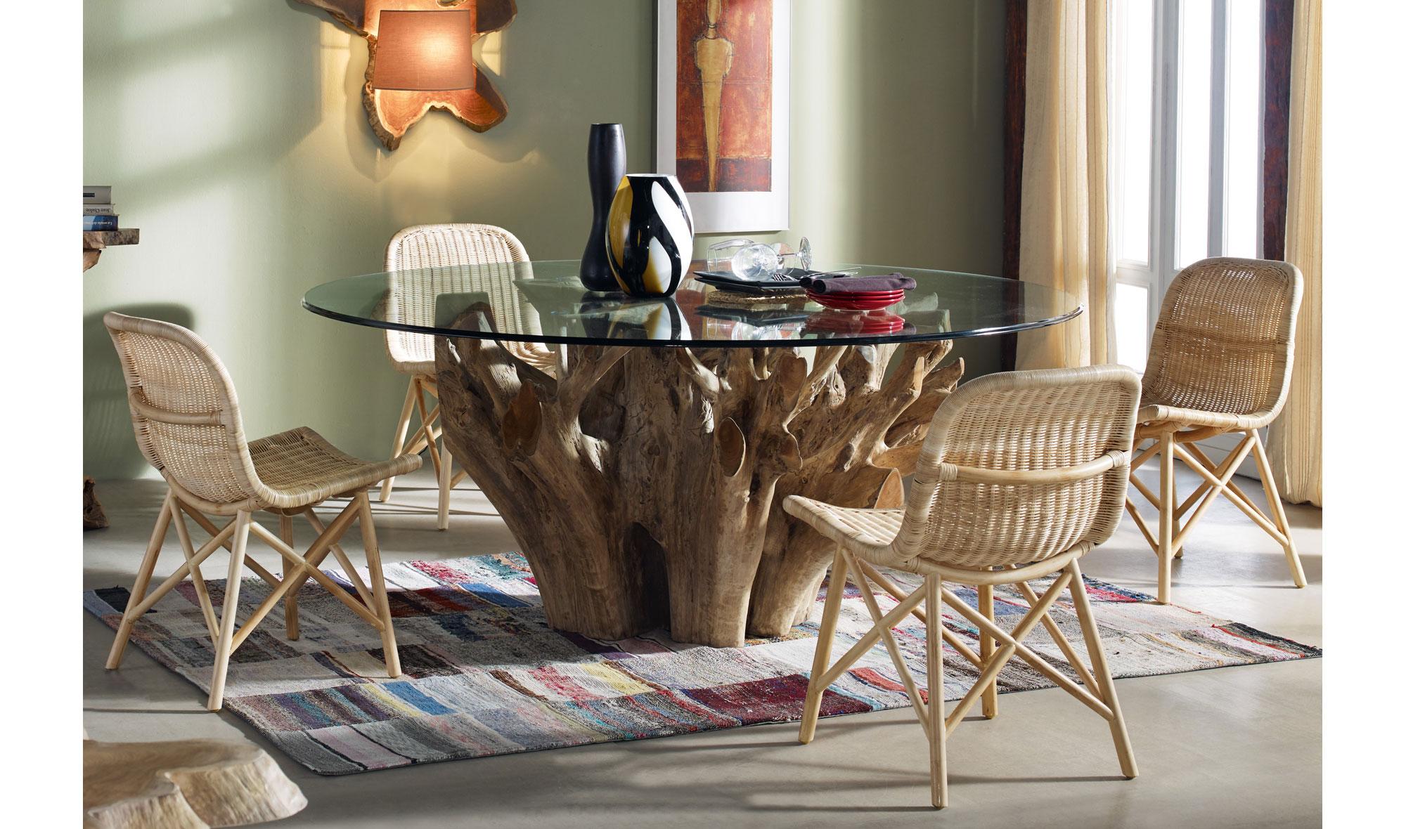 Mesa de comedor redonda moderna arya en - Muebles sillas comedor modernas ...