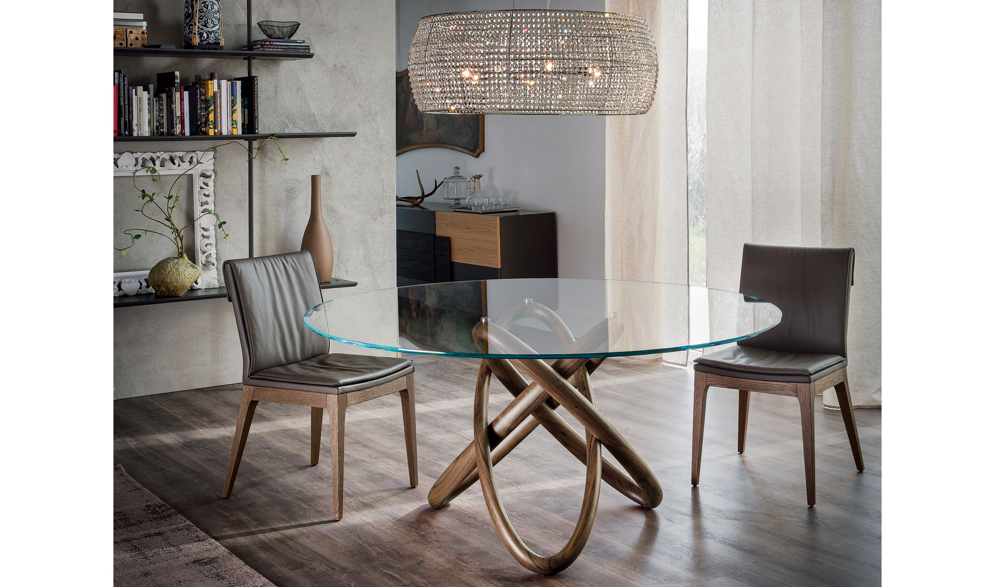 Mesa de comedor redonda carioca cattelan de lujo en tu tienda de muebles - Mesas comedor redonda ...