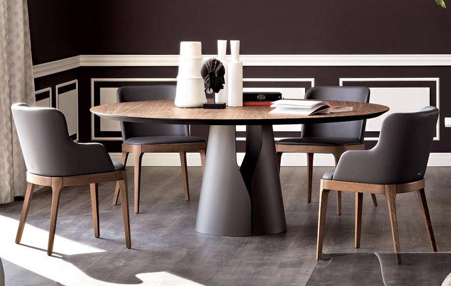 mesa de comedor redonda moderna giano en