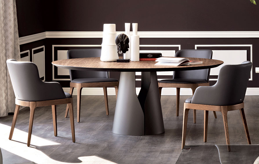 Mesa de comedor redonda giano cattelan en for Muebles de comedor mesas