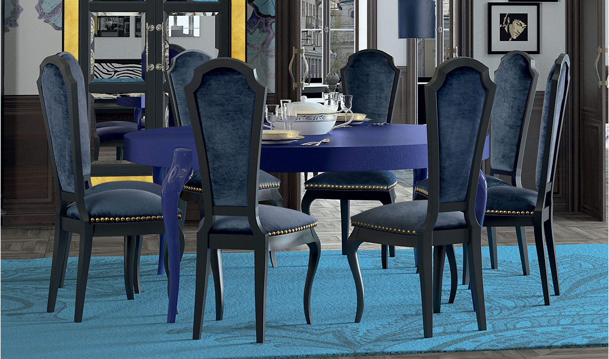 Mesa de comedor redonda moderna hobo en for Mesas comedor italianas