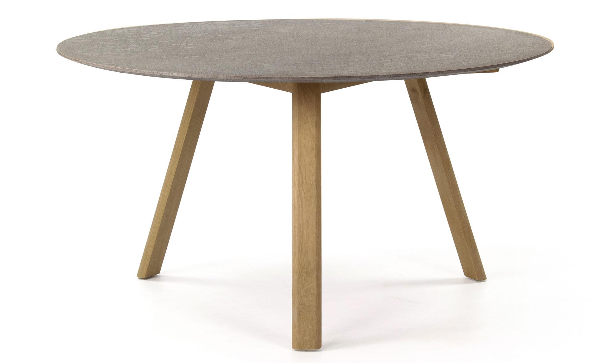 Mesa de comedor redonda n rdica cemento en - Mesa comedor redonda madera ...