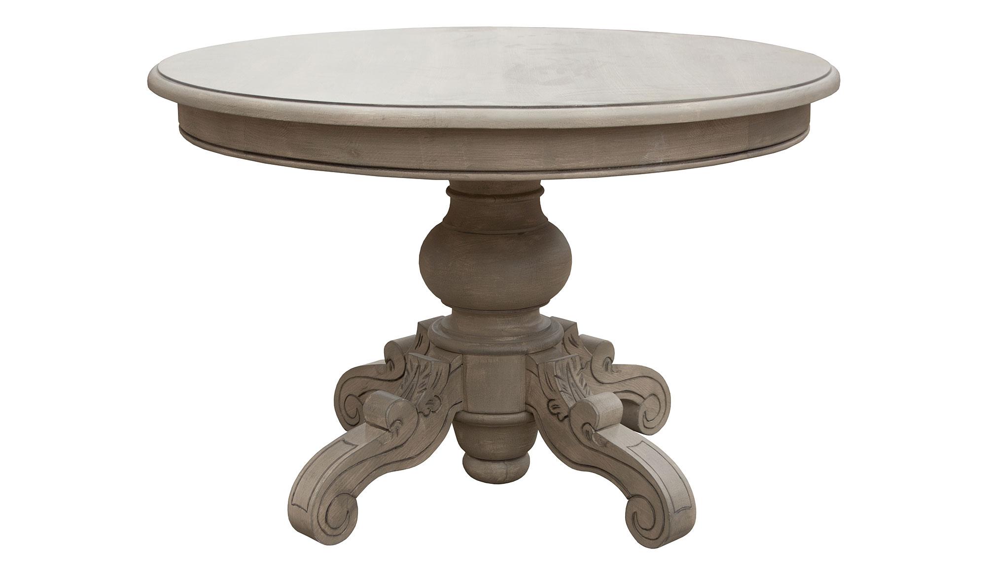 Mesa de comedor redonda vintage lepon en - Mesa comedor redonda madera ...