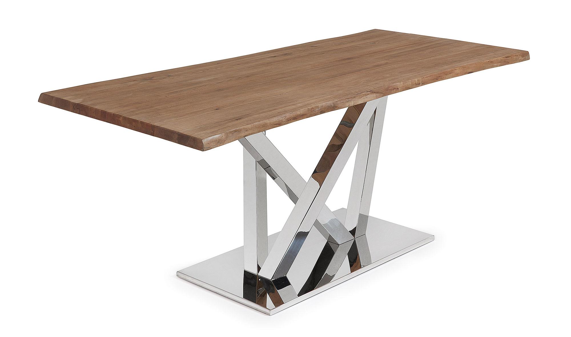 Mesa comedor roble antiguo moderna uve en for Muebles de comedor antiguos