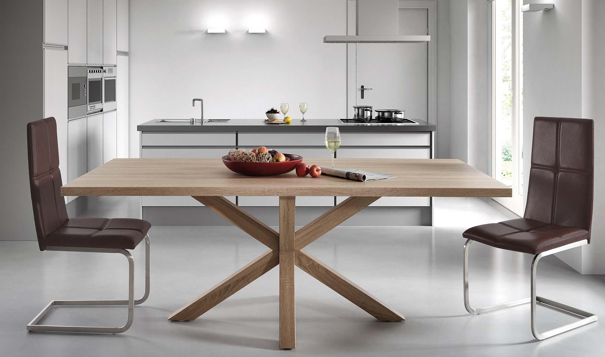 Mesa de comedor roble natural arya en for Mesas de comedor rectangulares