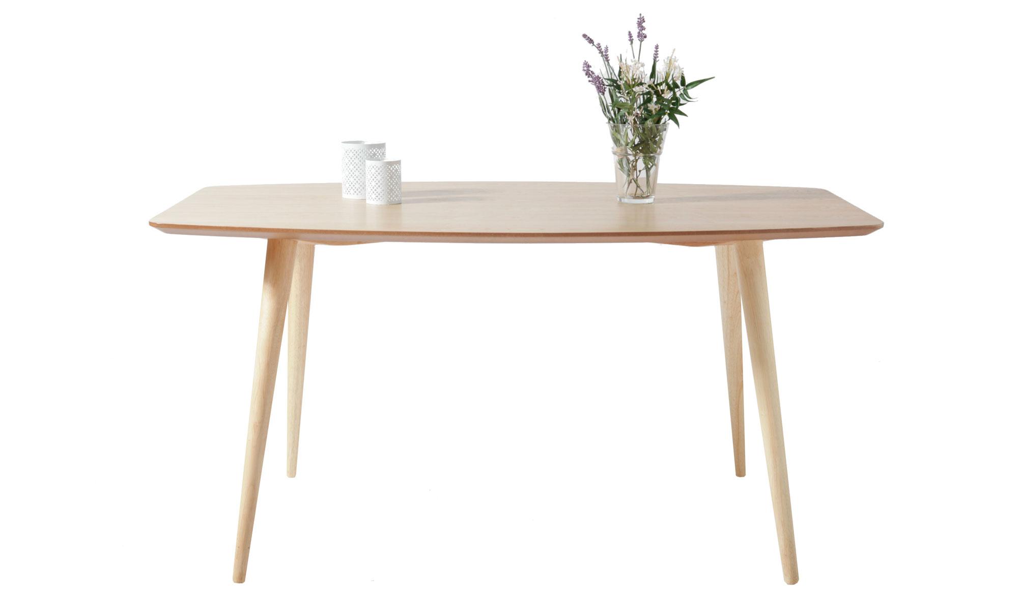 Mesa de comedor nordica kele en for Subastas muebles madrid