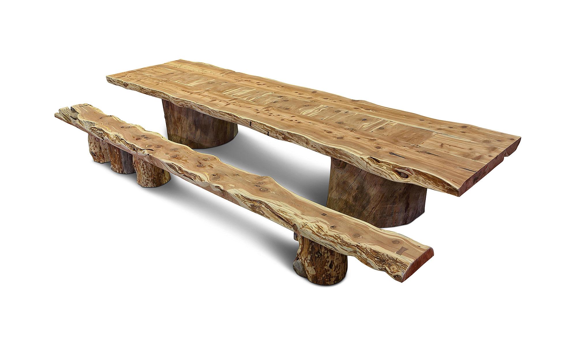 Mesa de comedor vintage sabina en for Mesa vintage madera