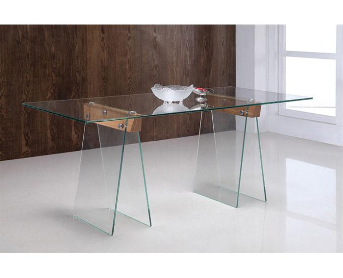 Mesa escritorio de cristal lubisch no disponible en for Mesa escritorio cristal