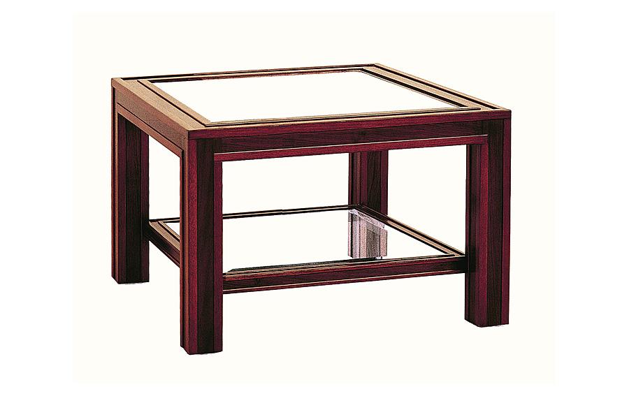 Mesa de cristal de rinc n cl sica stan en for Muebles de cristal a medida