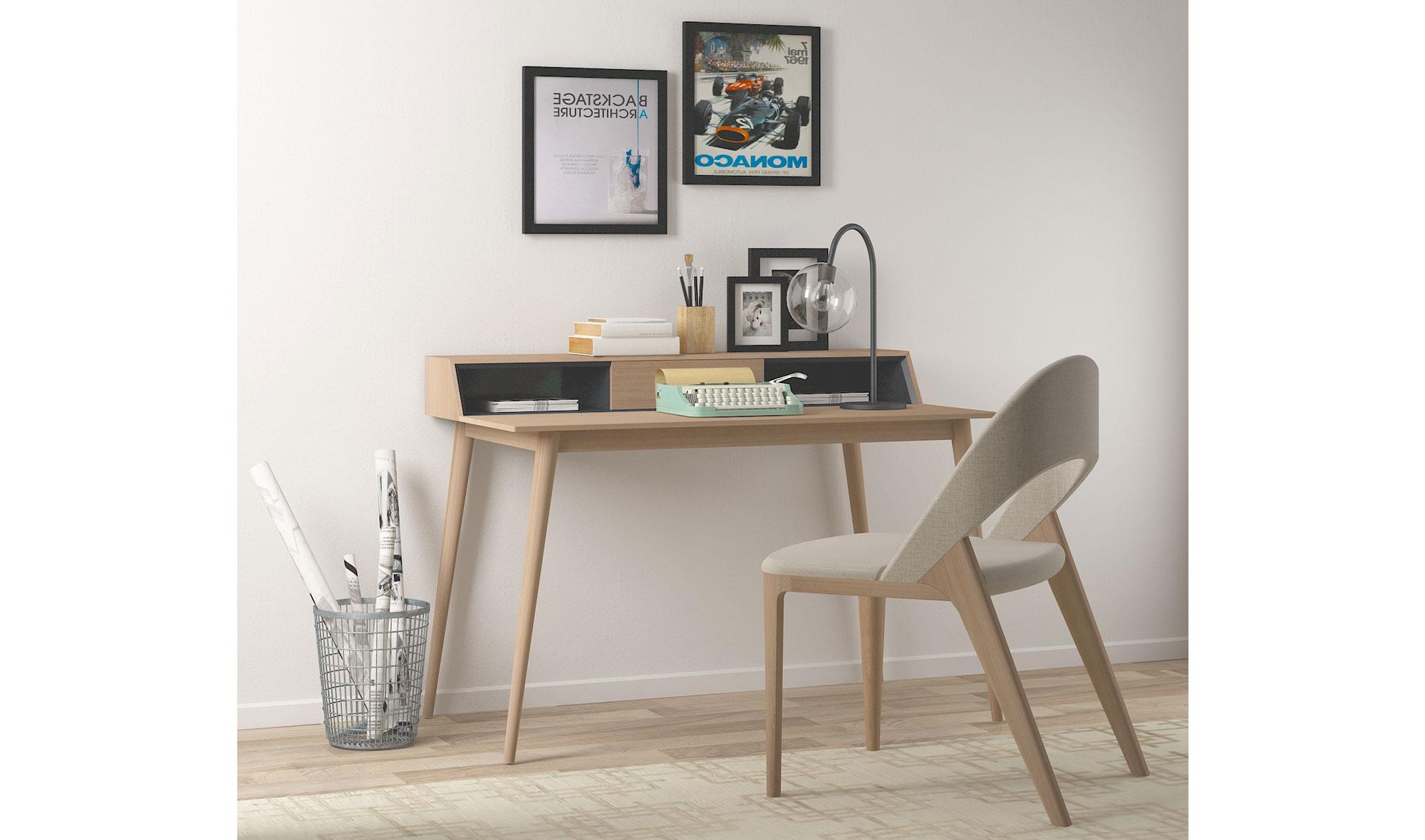 Mesa de escritorio 1 cajón nórdic Mankel