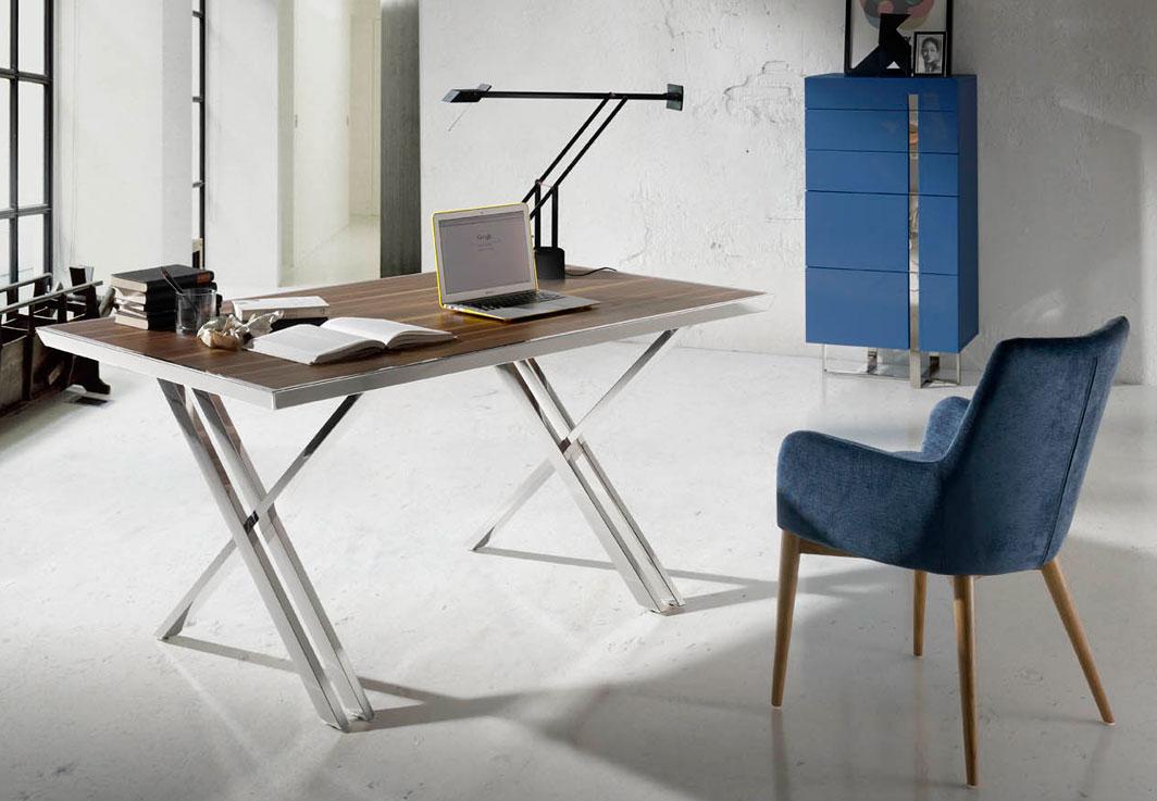 Mesa de escritorio moderna kaelen en for Mesa escritorio moderna