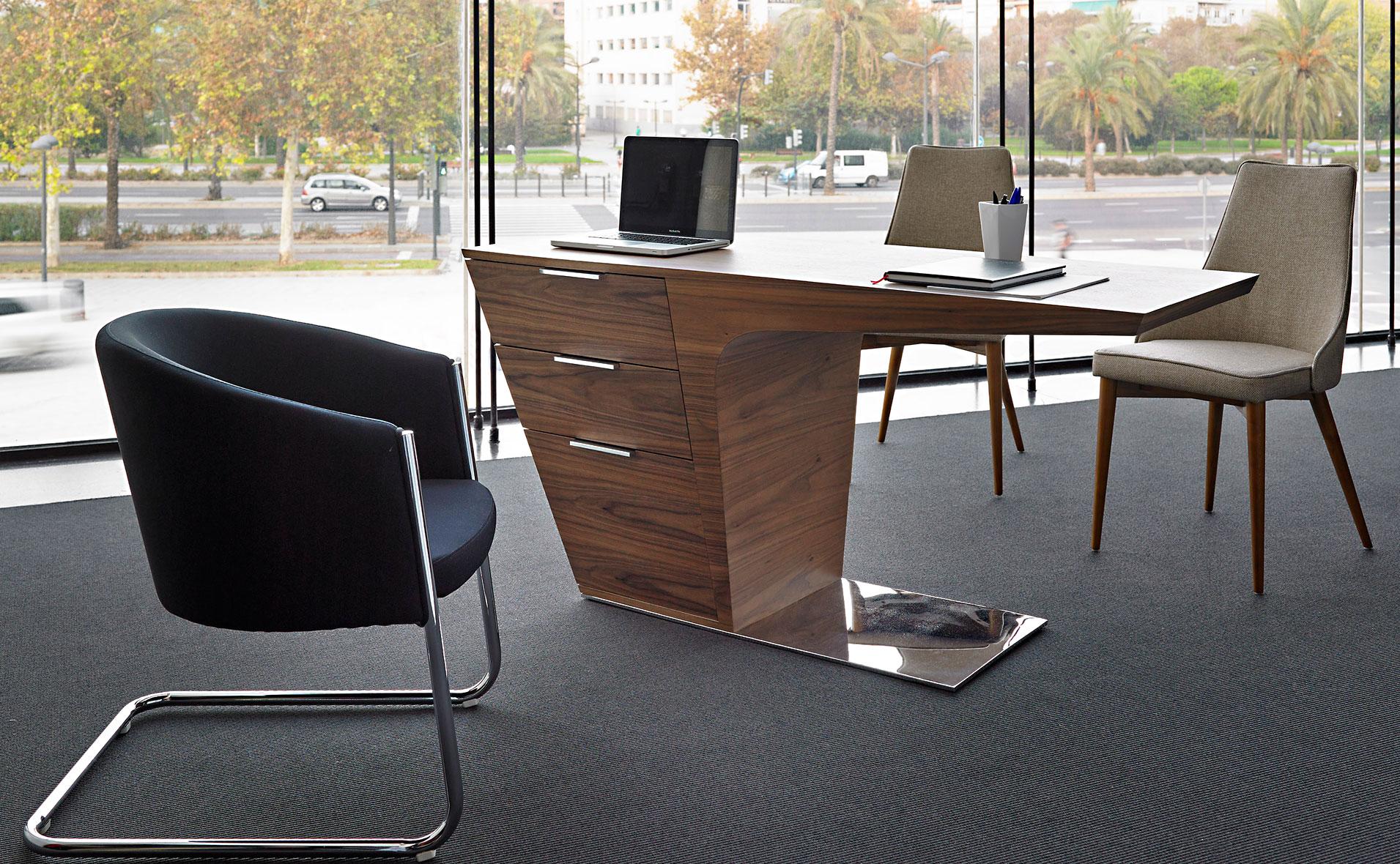 Mesa de escritorio moderna sayano en for Mesa escritorio moderna