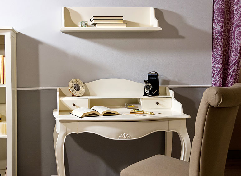 Mesa de escritorio blanca vintage par s en - Objetos decoracion vintage ...