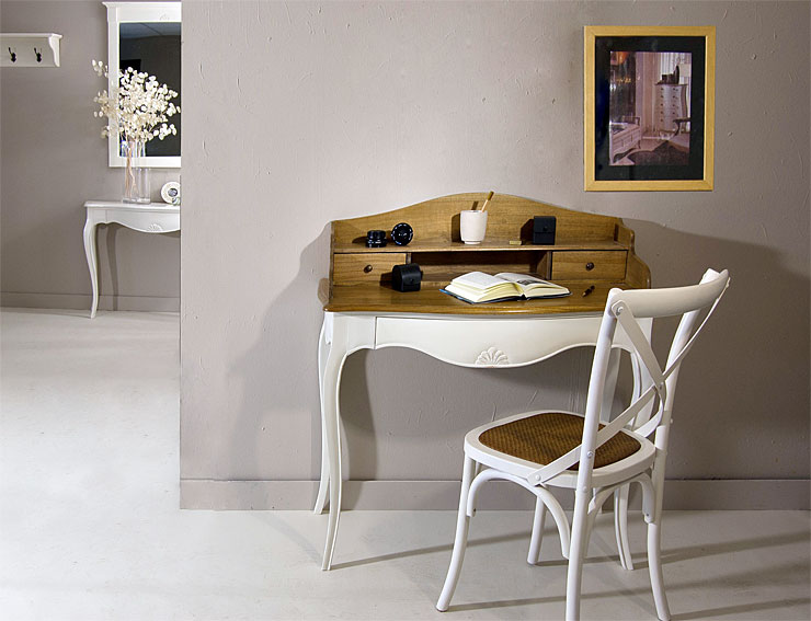 Mesa de escritorio bicolor vintage par s gran reserva - Escritorio vintage ...