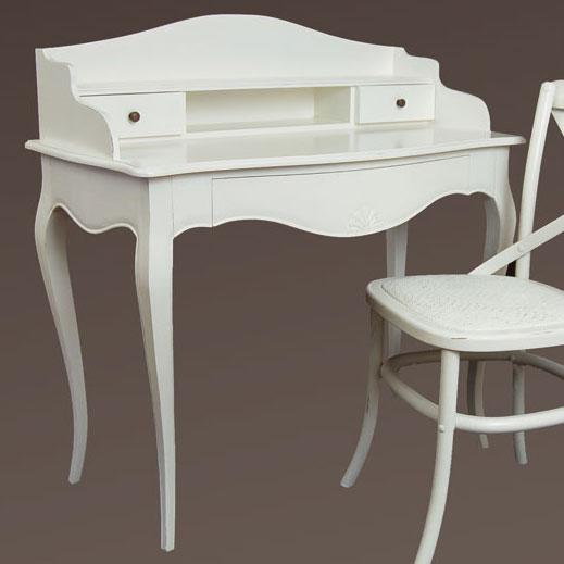 Mesa de escritorio blanca vintage par s en for Muebles paris