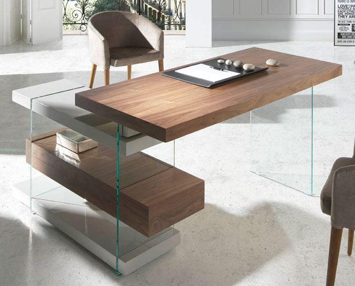 Mesa de escritorio moderna munio en for Muebles para escritorio