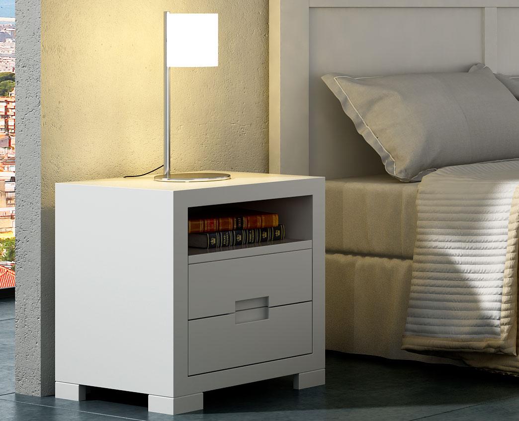 Mesa de noche blanca domain en for Mesas de noche blancas