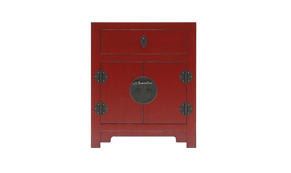 Mesa de noche oriental rojo no disponible en - Muebles de estilo oriental ...
