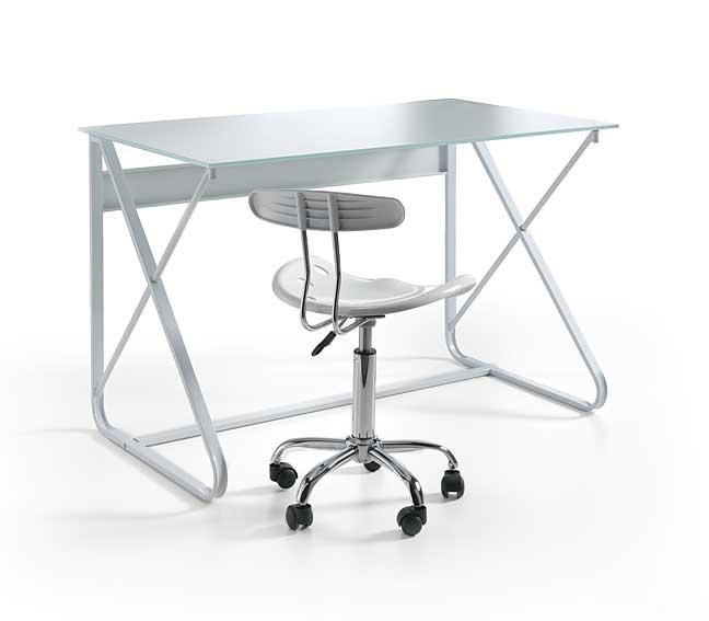 Mesa de ordenador y silla blanca douglas no disponible en for Mesa de ordenador blanca