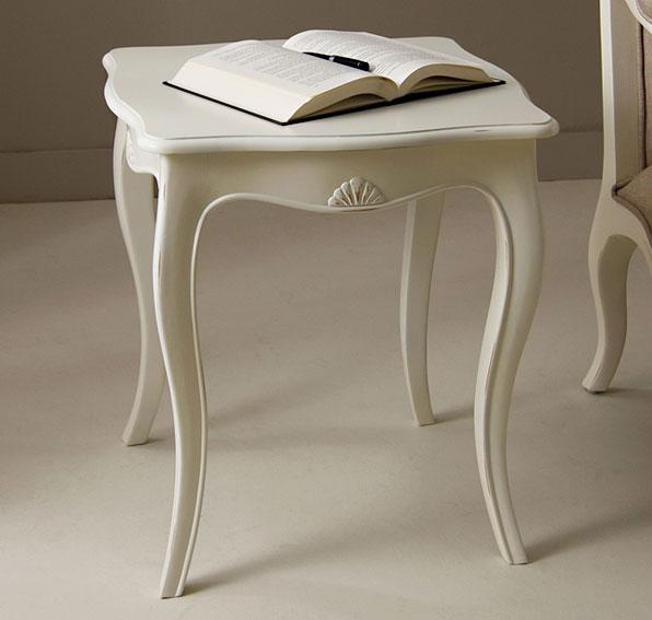 Mesa de rinc n blanca vintage par s en - Mesas de rincon ...