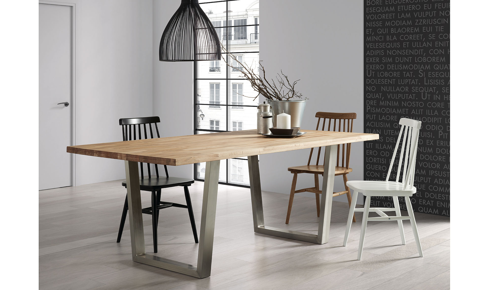 Mesa de comedor moderna crane no disponible en for Mesas estilo nordico baratas