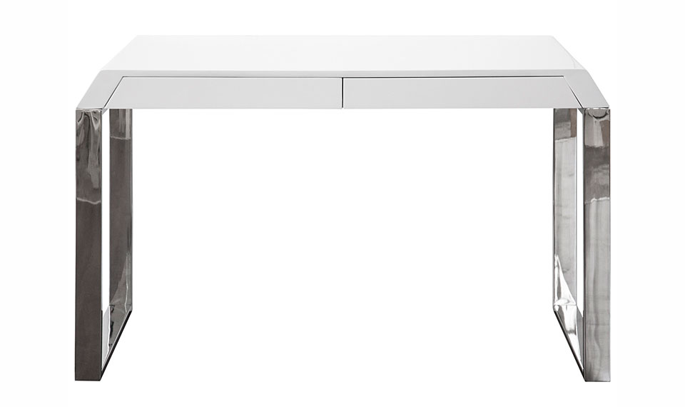 Mesa escritorio acero inox lacado blanco no disponible en - Escritorios en blanco ...