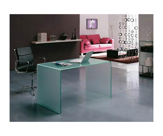 Mesa escritorio cristal curvado blanco no disponible en for Mesa cristal ikea escritorio
