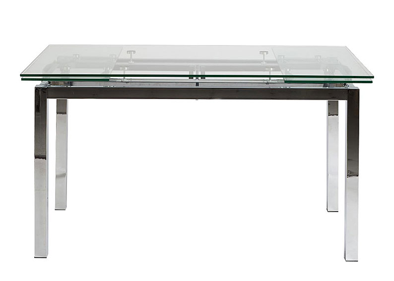 Mesa extensible cristal jetsen no disponible en for Mesa cristal ovalada extensible