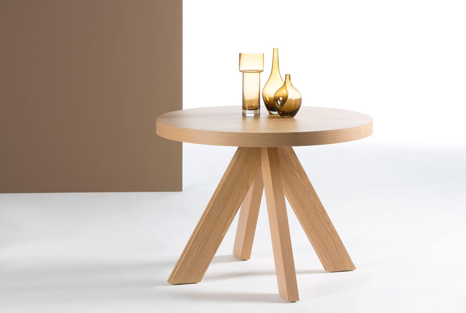 Mesa redonda extensible pata torneada car interior design for Patas muebles