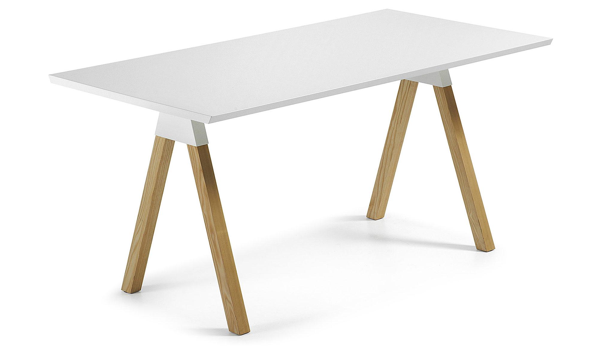 Mesa lacado blanco puro en for Muebles comedor blanco lacado