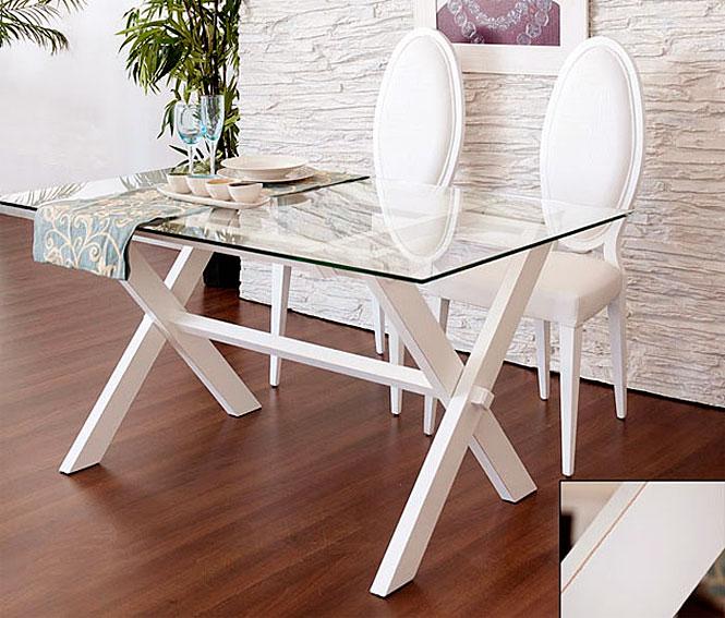 Mesa plegable lacado blanco roto no disponible en - Muebles blanco roto ...