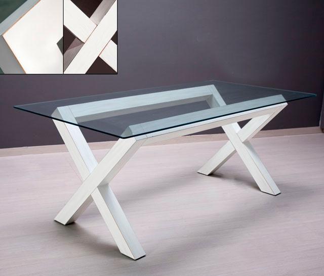 Mesa tapa cristal en blanco roto no disponible en - Muebles tapa tapa ...