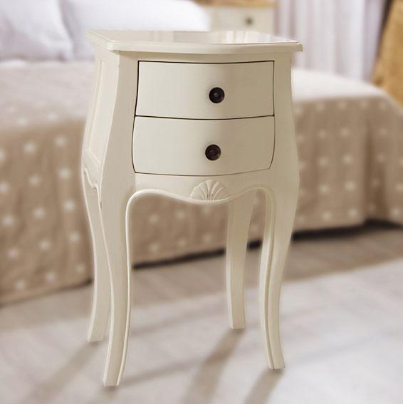 Muebles COSAS De ARQUITECTOS: Mesita De Noche 2 Cajones Blanca Vintage  París   Mesas De