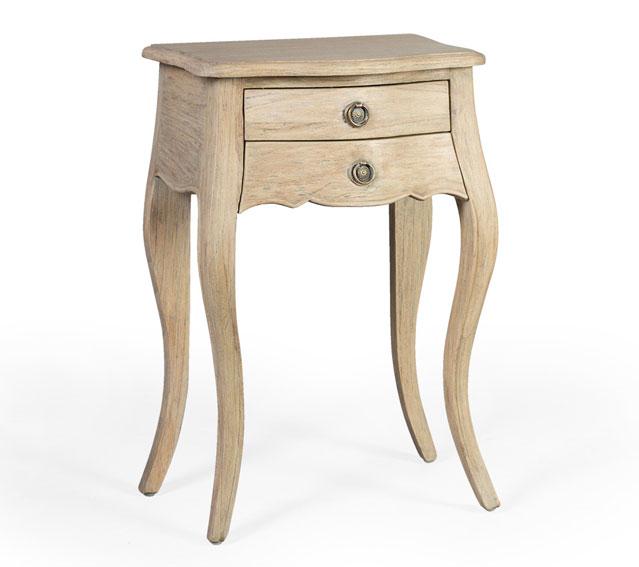 Mesita de noche 2 cajones elysee vintage artisan no for Artisan muebles