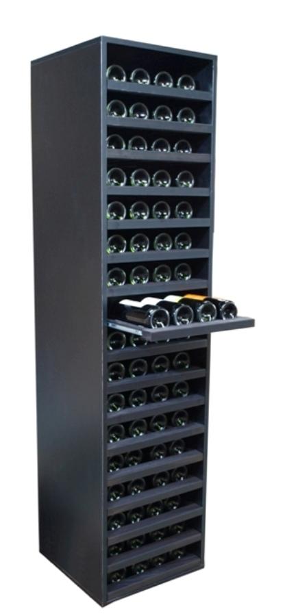 Botellero para vino merlot con capacidad para 68 botellas - Muebles para bodegas ...