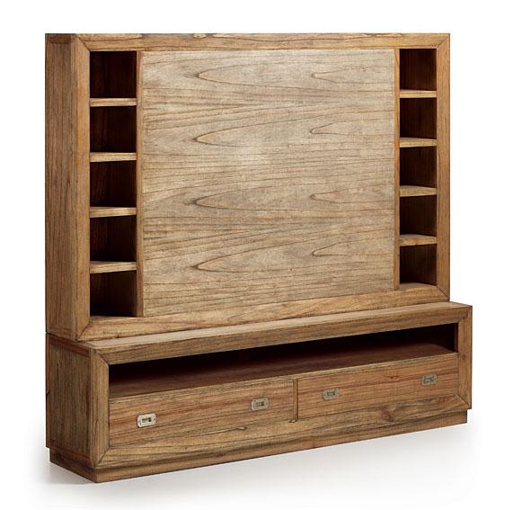 Mueble tv 2 cajones colonial merapi no disponible en - Mueble rustico para tv ...