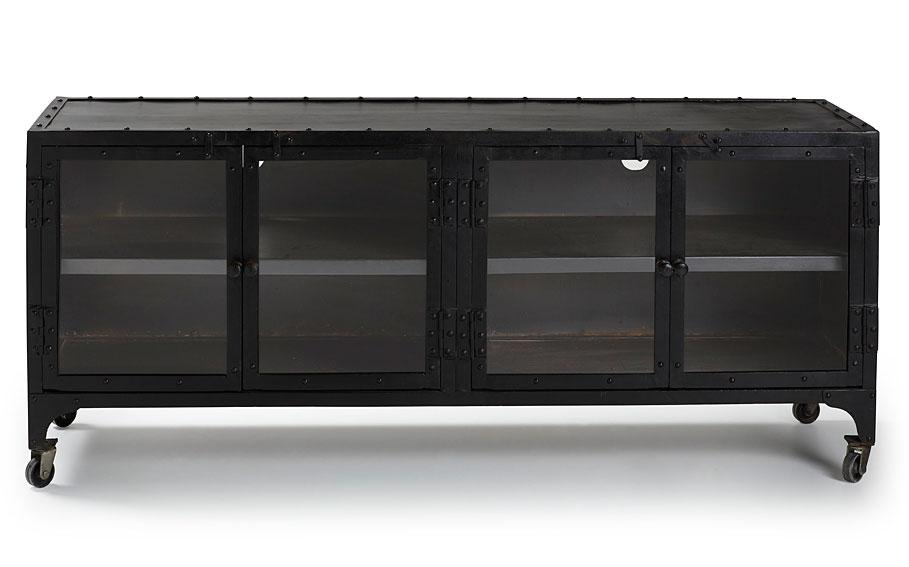 Mueble tv 4 puertas vintage taagan no disponible en for Mueble tv industrial