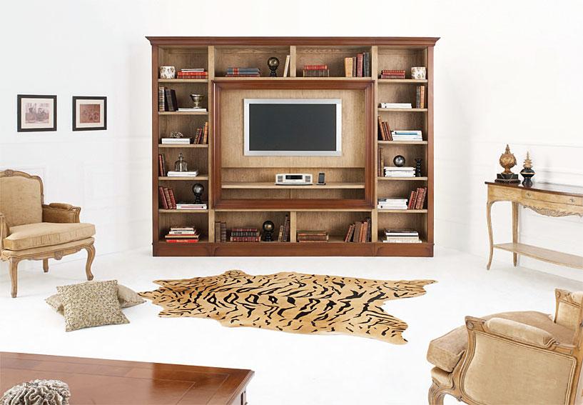 Mueble tv cl sico rouen en for Muebles para television