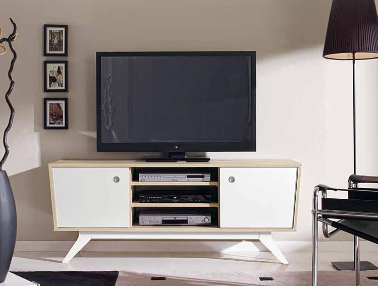 Mueble tv retro roger no disponible en for Muebles salon para television