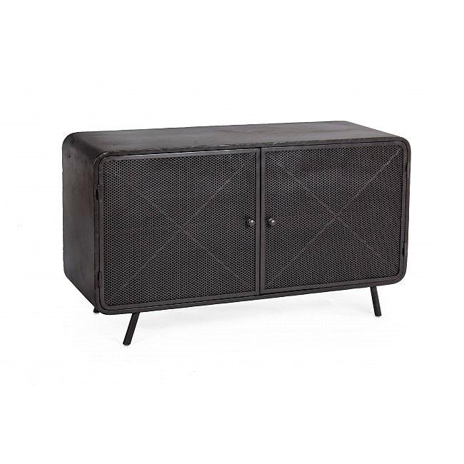 Mueble tv vintage menford negro de lujo en for Mueble tv negro
